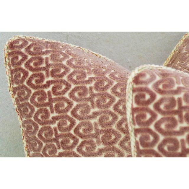Designer Old World Weavers Velvet Pillows - A Pair - Image 5 of 11