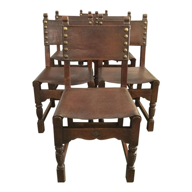 Italian Leather Chairs - Set of 6 - Image 1 of 4