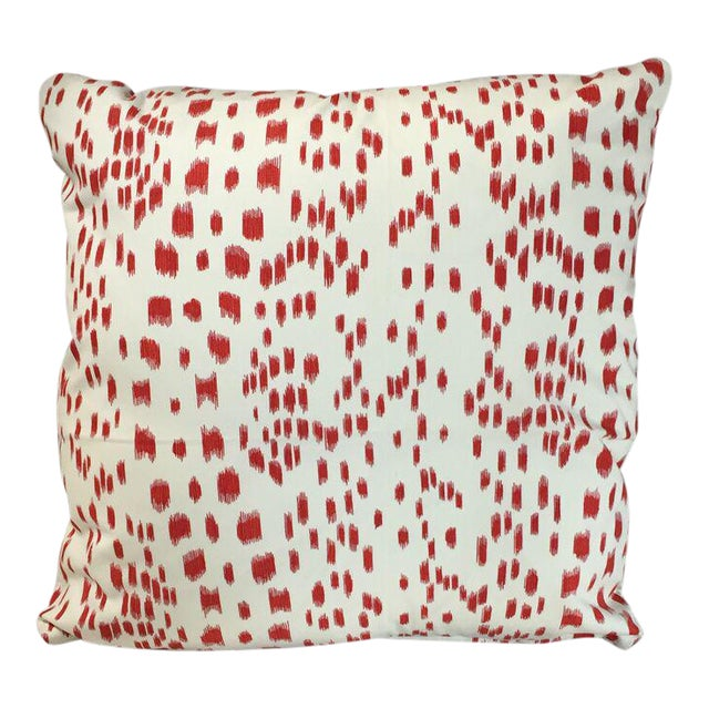 Kim Salmela Orange Spot Pillow - Image 1 of 3