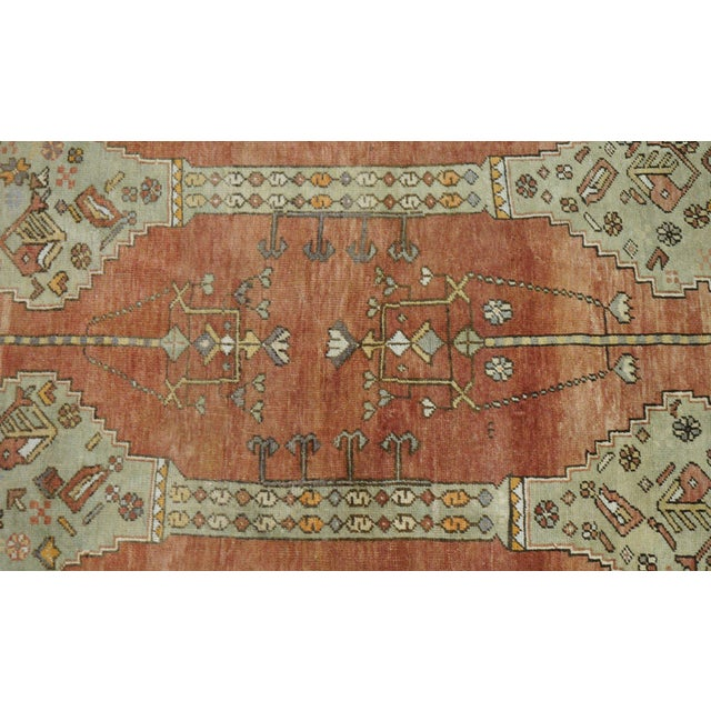 Vintage Turkish Oushak Rug - 4′4″ × 6′1″ - Image 2 of 4