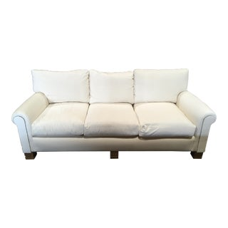 White Velvet & Gilt Sofa
