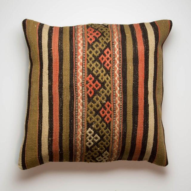 Turkish Kilim Striped Pillowcase - Image 2 of 3