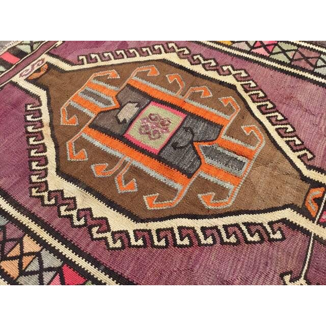 Vintage Turkish Kilim Rug - 5′2″ × 13′3″