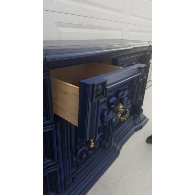 Hand Painted Navy Blue Dresser - Image 8 of 8