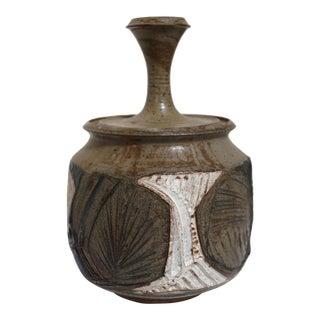 Lidded Stoneware Vessel by Joel Edwards