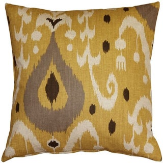 Pillow Decor - Indah Ikat Yellow 20x20 Pillow