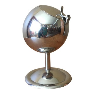 Mid-Century Silver Sphere Ashtray