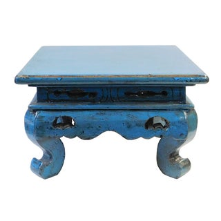 Chinese Rustic Low Wood Side Tabe
