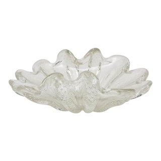 Large Murano Glass Centerpiece Bowl by Ercole Barovier