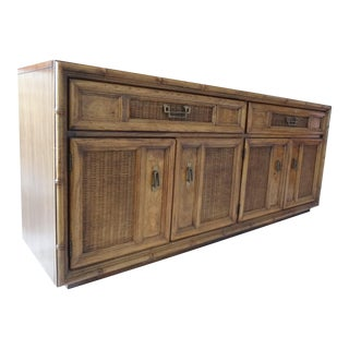 Chinoiserie Style Faux Bamboo Credenza