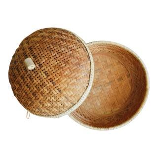 Vintage Indonesian Handmade Woven Basket