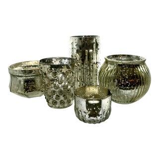 Mercury Glass Votives - Set of 5