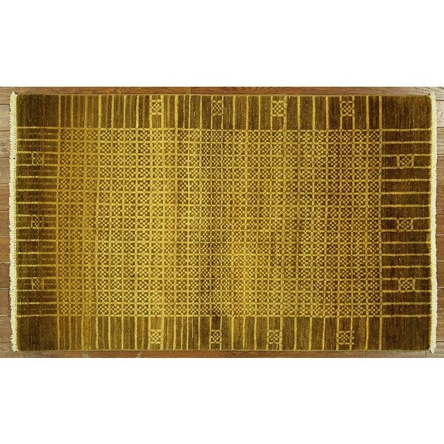 "Oriental Oushak Green Chobi Rug - 4'1"" x 6'7"" - Image 2 of 7"