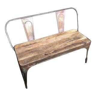 Industrial Steel & Wood Bench
