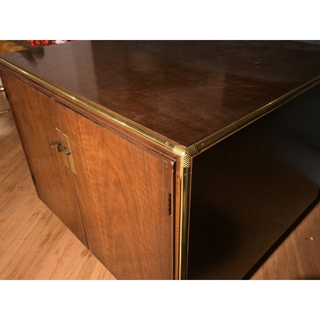 Wood and Brass Cocktail Table - Image 6 of 6