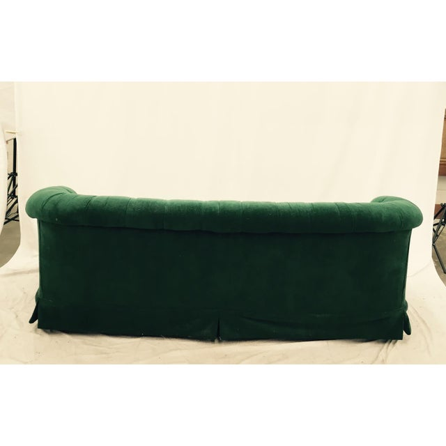 Vintage Tufted Back Green Velvet Sofa Chairish