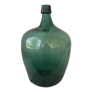 Deep Green Demijohn Bottle