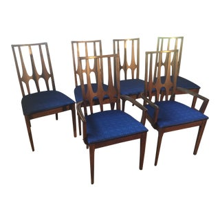 Mid-Century Broyhill Brasilia Walnut Sculptural Dining Chairs - Set of 6