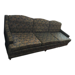 Blue & Green Floral Brocade Sofa