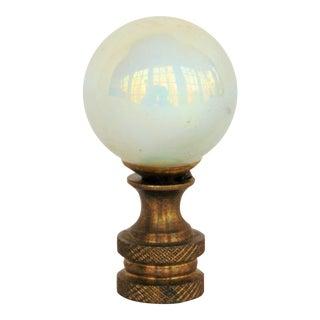 White Pearl Glass Ball Lamp Finial