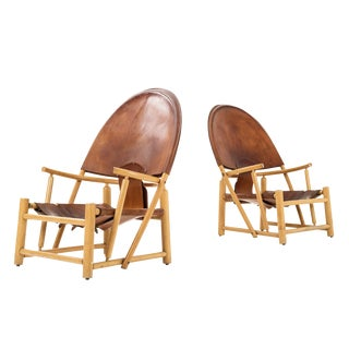 "Pair of Werther Toffoloni and Piero Palange ""Hoop"" Lounge Chairs"