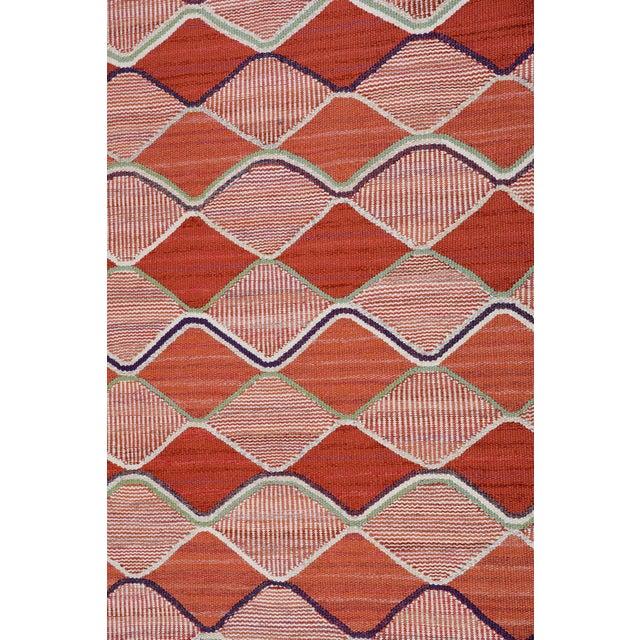 Vintage Barbro Nilsson Flat-Weave Swedish Carpet for Marta Maas-Fjetterström - Image 3 of 10