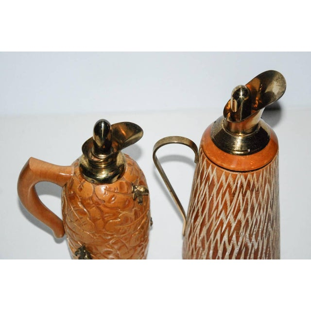 Aldo Tura Wood & Brass Decanters - A Pair - Image 9 of 11