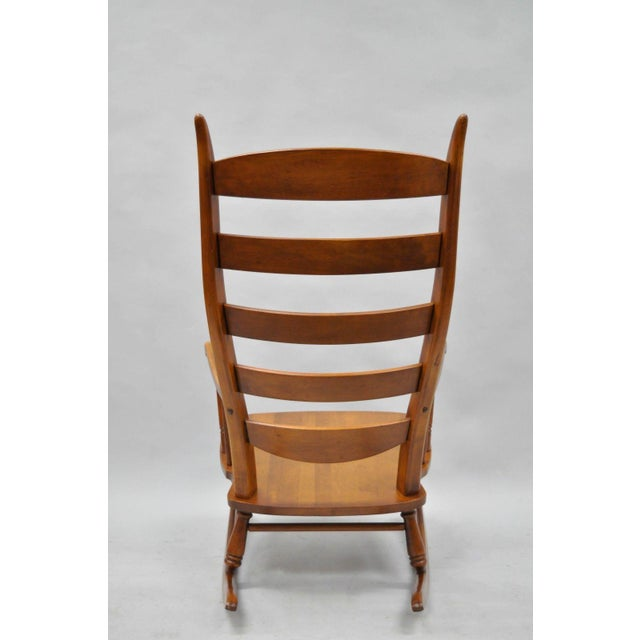 Mid-Century Tell City Maple Sculptural Ladder Back Rocking Chair - Image 10 of 11