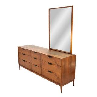 Dillingham Walnut Dresser & Mirror