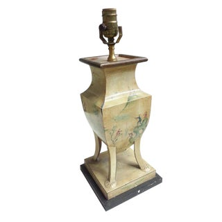 Tole Painted Urn Lamp