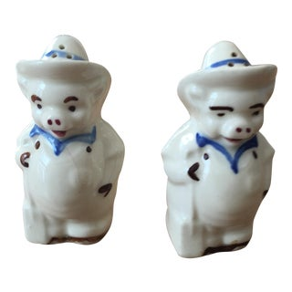 Vintage Farming Cow Salt & Pepper Shakers- Set of 2