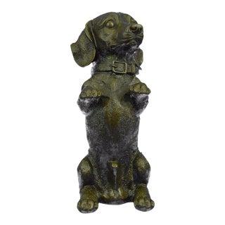 Pup Hush Puppy Dog Bronze Sculpture