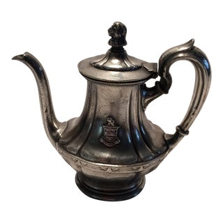 "Antique ""The Stevens"" Hotel Silver Plated Tea Pot by R.Wallace"