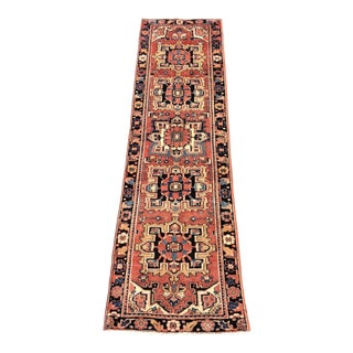 Vintage Persian Heriz Runner - 2′11″ × 10′6″
