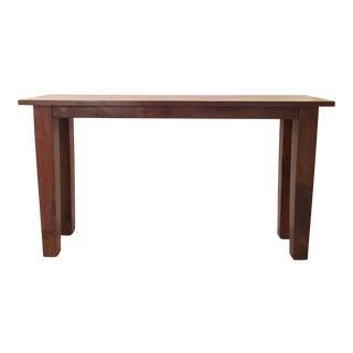Espresso Wood Console Table
