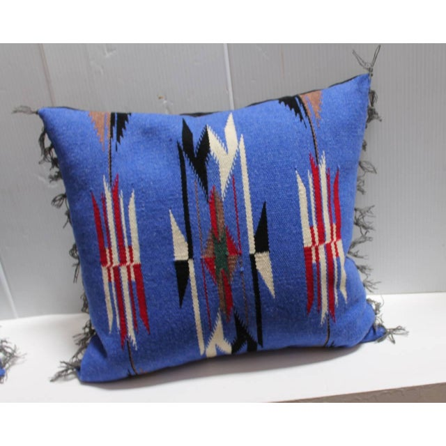 Image of Pair of Mexican-American Chimayo Indian Weaving Pillows