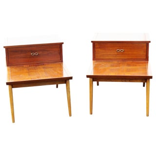 Lane Furniture Inlaid End Tables - A Pair