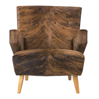 Jens Risom for Knoll Cowhide Lounge Chair