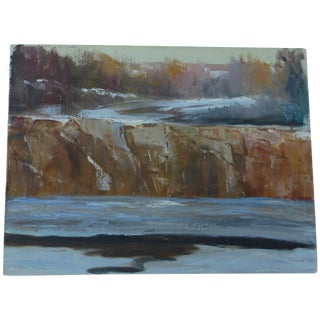 Abstract Waterfall Painting by H.L. Musgrave