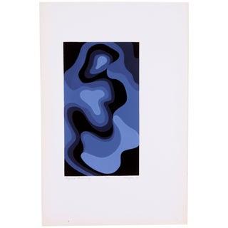 Vintage 1975 'Figure Reclining' Blue Print
