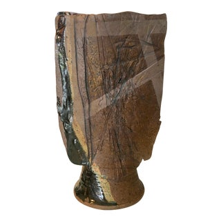 Studio Pottery Tall Vase