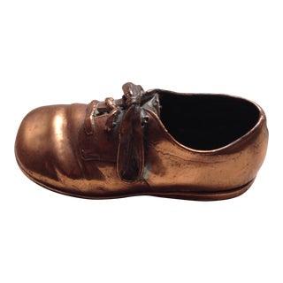 Copper Baby Shoe Figure