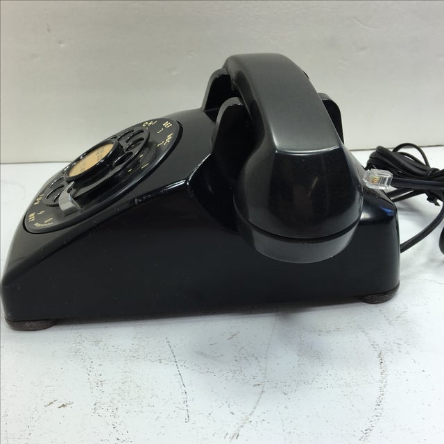 Vintage 1950s Black Rotary Dial Telephone - Image 4 of 11