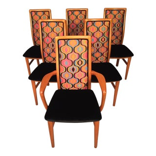 Mid-Century Modern Danish Schou Anderson Chairs, Set of 6