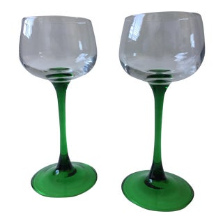 Vintage Rhine Wine Glasses - A Pair