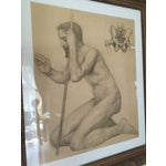 Image of Rare Original Victorian Framed Figure Drawing