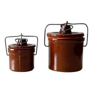 Vintage Bail Lock Preserve Jars - Set of 2