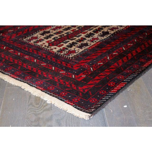 "Apadana - Vintage Red Baluch Rug - 2'10"" X 4'6"" - Image 2 of 2"