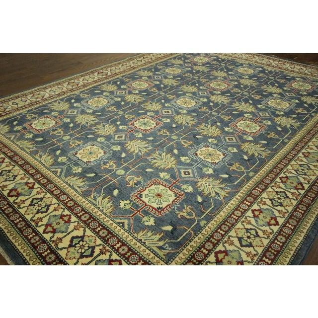"""Blue & Ivory Kazak Oriental Rug - 8'2"""" X 11'3"""" - Image 4 of 10"""