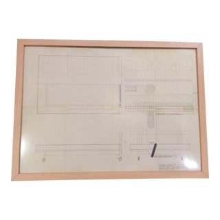 Daybed draft drawing by Finn Juhl_ SALE PRICE $750